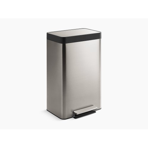 Black Stainless 13-gallon Stainless Steel Step Can