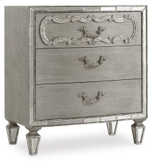 Bedroom Sanctuary Three Drawer Nightstand