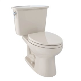 Eco Drake® Transitional Two-Piece Toilet, 1.28 GPF, ADA Compliant, Elongated Bowl - Bone
