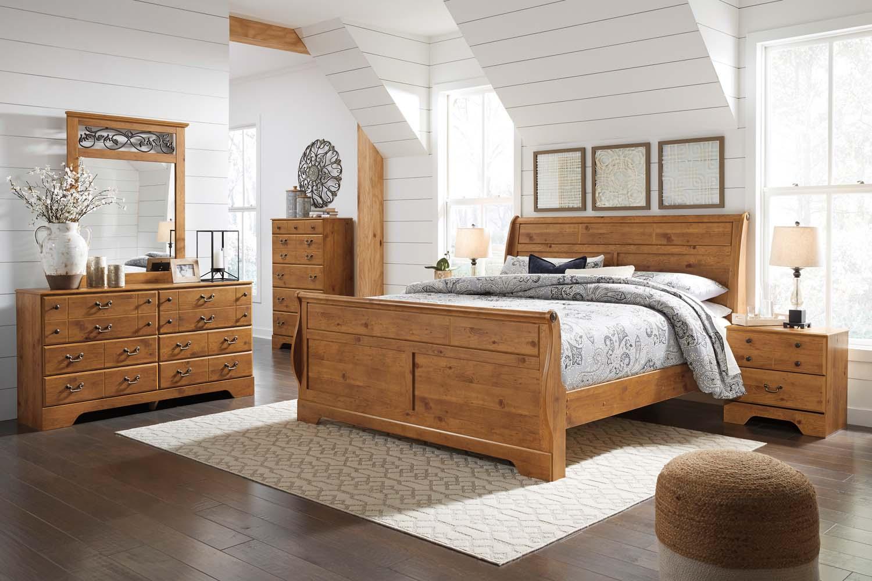 Hidden · Additional Bittersweet   Light Brown 3 Piece Bed Set (King)