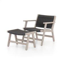 Chair + Ottoman Configuration Grey Cover Delano Chair + Ottoman