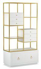 Home Office Swan Room Divider w/ File Storage Product Image