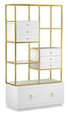 Home Office Swan Room Divider w/ File Storage