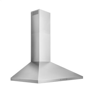 BroanBroan® 36-Inch Convertible Wall-Mount Pyramidal Chimney Range Hood, 450 MAX CFM, Stainless Steel