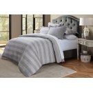 5pc Queen Duvet Set Gray Product Image