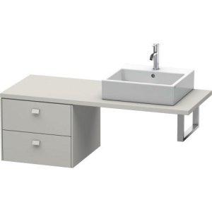 Brioso Low Cabinet For Console, Concrete Gray Matt Decor