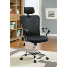 Casual Black Office Chair With Headrest