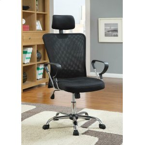CoasterCasual Black Office Chair With Headrest
