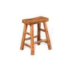 "24""H Sedona Saddle Seat Stool w/ Wood Seat"