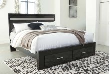 Starberry - Black 4 Piece Bed Set (King)
