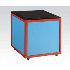 Blue/bk Train Ottoman W/strg Product Image