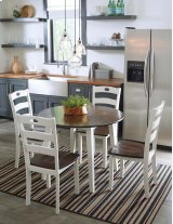 Woodanville - White/Brown 5 Piece Dining Room Set Product Image