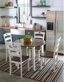 Woodanville - White/Brown 5 Piece Dining Room Set