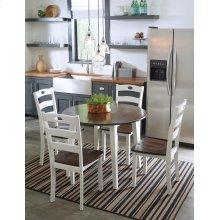 Woodanville - Cream/Brown 5 Piece Dining Room Set
