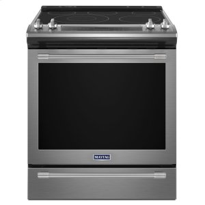 MAYTAG30-Inch Wide Slide-In Electric Range With True Convection And Fit System - 6.4 Cu. Ft.