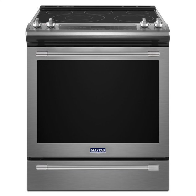 Maytag 30-Inch Wide Slide-In Electric Range With True Convection And Fit System - 6.4 Cu. Ft.