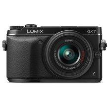 LUMIX DMC-GX7 Interchangeable Lens (DSLM) Camera Kit with 14-42 II Black Lens - Black