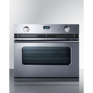 """Summit30"""" Wide Stainless Steel Gas Wall Oven Made In Italy With Electronic Ignition and Digital Clock/timer"""