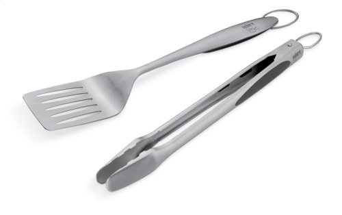 WEBER STYLE - Stainless Steel Two-Piece Barbecue Tool Set