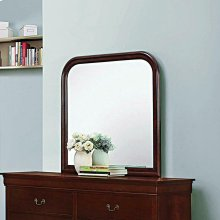 Louis Philippe Red Brown Dresser Mirror