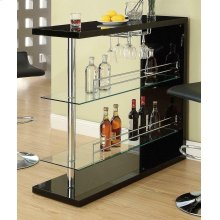 Contemporary Black Bar Unit