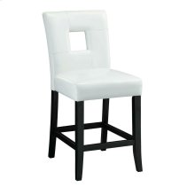 Newbridge Causal White Counter-height Chair