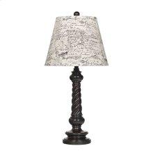 Roisin Antique Black Poly Table Lamp