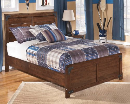Delburne - Medium Brown 2 Piece Bed Set (Full)