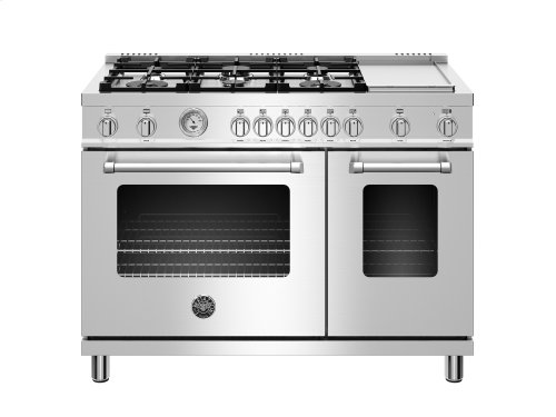 48 inch All Gas Range, 6 Burner and Griddle Stainless