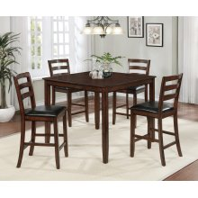 Blaine 5 Pc Square Counter Height Pub Set