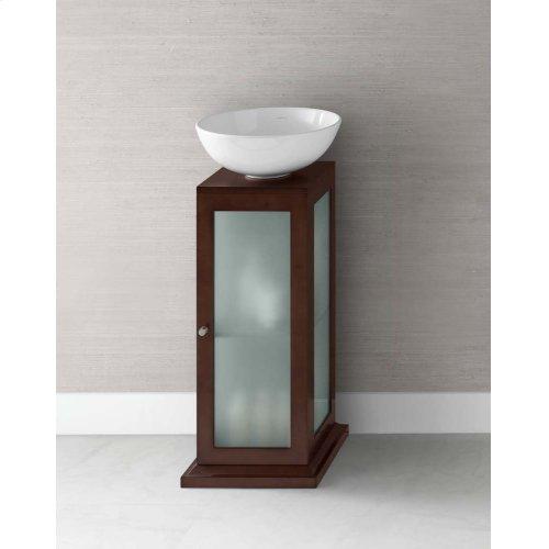"""Solis 15"""" Wood Vanity Pedestal w/Drain Hole in Dark Cherry"""