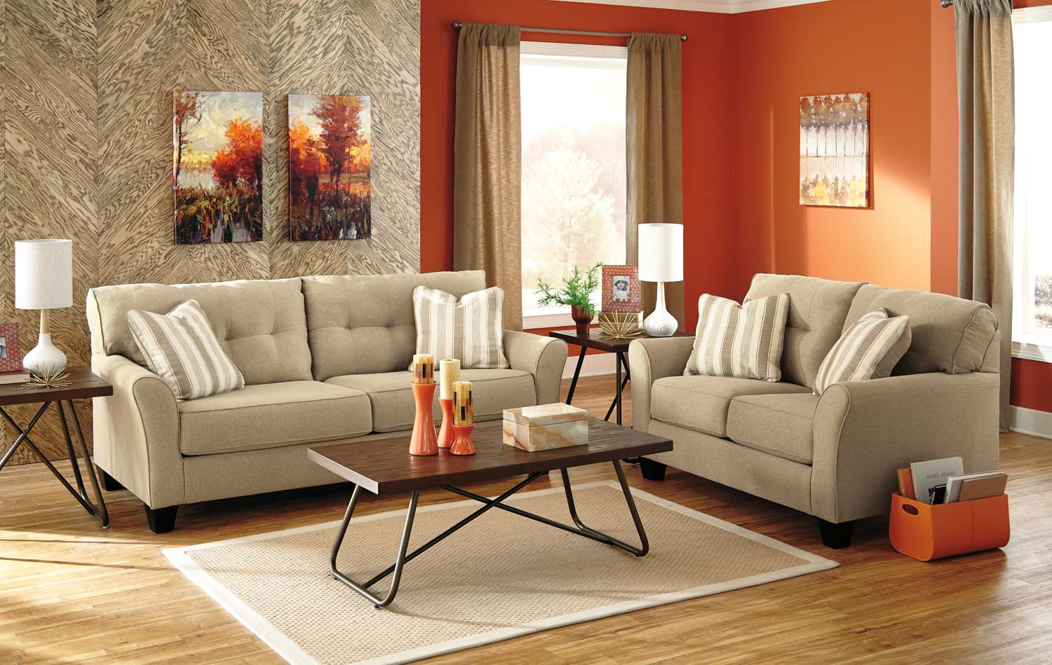 Ashley 51902 Laryn   Khaki Living Room Set Houston Texas USA Aztec Furniture