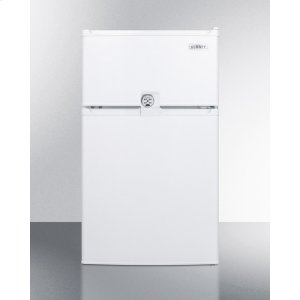 SummitCompact Energy Star Listed Two-door Refrigerator-freezer With Combination Lock