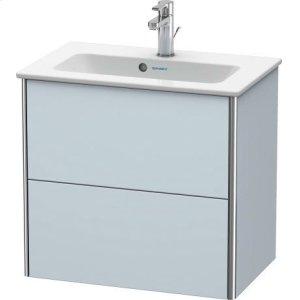 Vanity Unit Wall-mounted Compact, Light Blue Satin Matt Lacquer