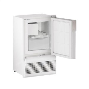 "U-LineWh95fc 14"" Crescent Ice Maker With White Solid Finish (115 V/60 Hz Volts /60 Hz Hz)"