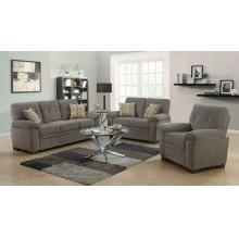 Fairbairn Casual Brown Three-piece Living Room Set