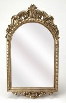 Outfit the walls of your entry or hall with this glimmering mirror. Featuring an French Italian style, light weight, polyurethane frame with a gorgeous arch and accents this frame will be beautiful where ever you hang it. Product Image