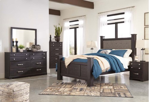 Reylow - Dark Brown 3 Piece Bed Set (Queen)