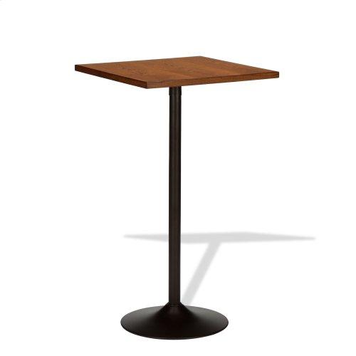 "45"" Brookgate Pub Table with Wooden 26"" Square Top, Golden Oak Finish"