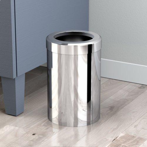 Round Modern Waste Basket in Matte Black