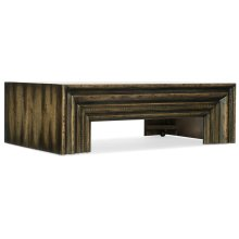 Living Room Crafted Rectangle Cocktail Table