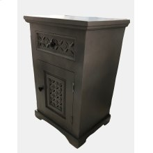 Dexter Cabinet Accent Table- A. Black