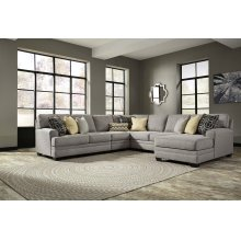 Cresson - Pewter Right Chaise, Armless Loveseat, Armless Chair, Left Loveseat, Wedge