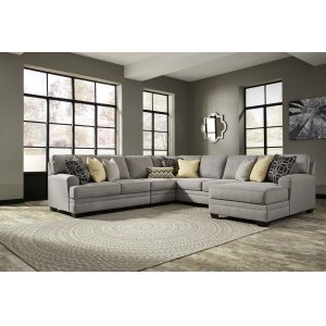 Ashley Furniture Cresson - Pewter 5 Piece Sectional