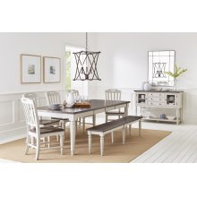 Orchard Park Dining With 4 Chairs and Bench