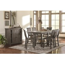 Rectangular Counter Table - Distressed Dark Gray Finish