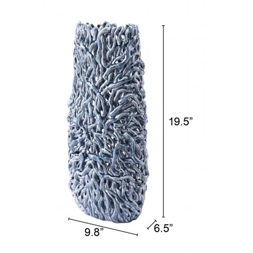 Twist Tall Vase Blue