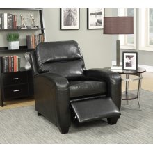 Yukon Black Push-Back Recliner Chair