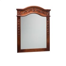 """Bordeaux Traditional 24"""" x 34"""" Solid Wood Framed Bathroom Mirror in Colonial Cherry"""