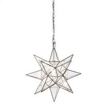 Large Clear Star Chandelier